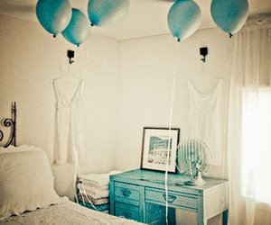 balloons, blue, and fashion image