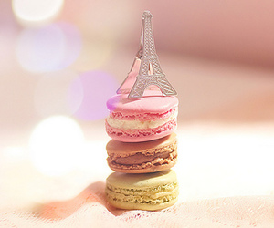 paris, macaroons, and eiffel tower image