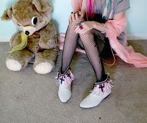 audrey kitching, teddy bear, and shoes image