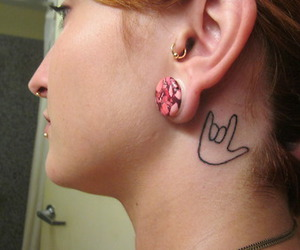 ASL, tattoo, and tragus image