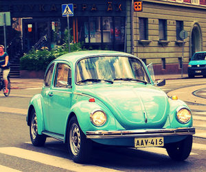 car, blue, and street image