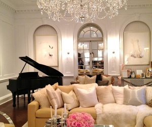 classy, interiors, and living room image