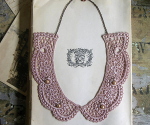 collar, lace, and necklace image