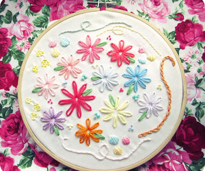 embroidery and embroidery hoop image