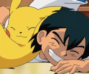 ash, pikachu, and pokemon image