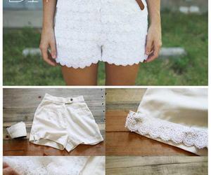 diy, shorts, and lace image