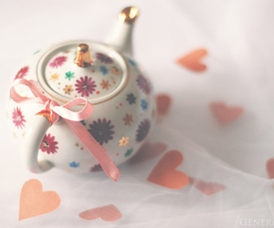 cute, teapot, and flowers image