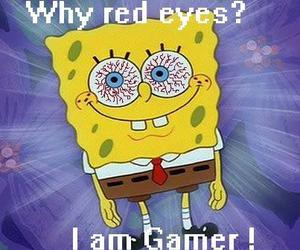 eyes, gamer, and red image