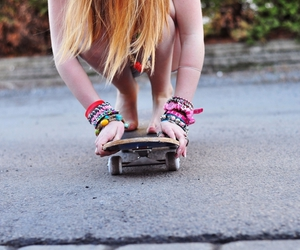 girl, skate, and jewerlly image