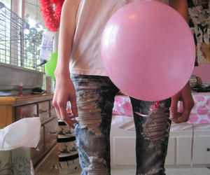 anorexia, baloon, and scary image
