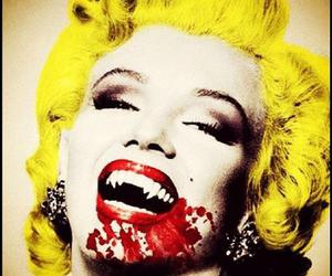 Marilyn Monroe, vampire, and blood image