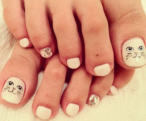 nails, cat, and girly image