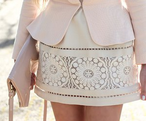 fashion, laser cut, and skirt image