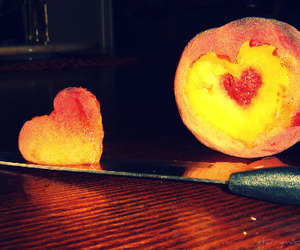 cut, fruit, and heart image