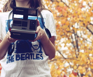 girl, camera, and the beatles image