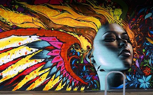 graffiti, art, and woman image