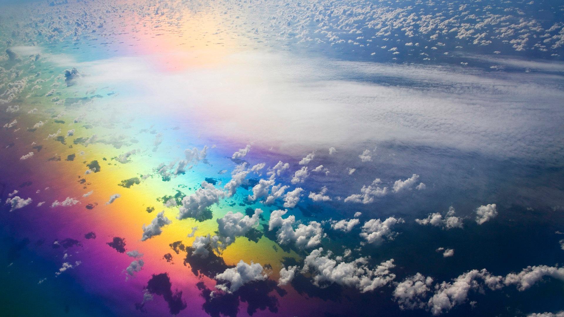 Earth Rainbow Wallpaperbackground 1920 X 1080 Id 93260