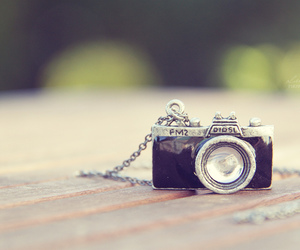 camera, necklace, and pastel image