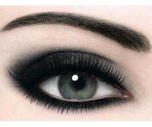 eye, makeup, and black image