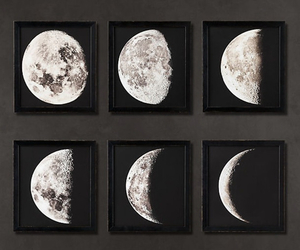 art, moon, and eclipse image