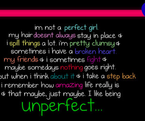 amazing, unperfect, and love image