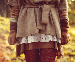 fashion, autumn, and brown image