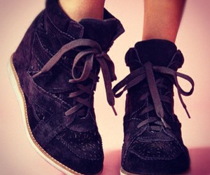 sneakers, black, and cute image