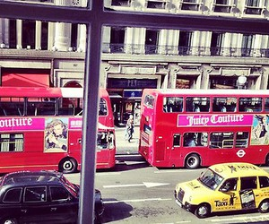 fashion, juicy couture, and red bus image