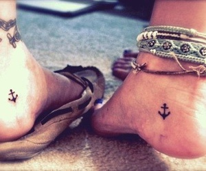 anchor, girl, and tattoo image