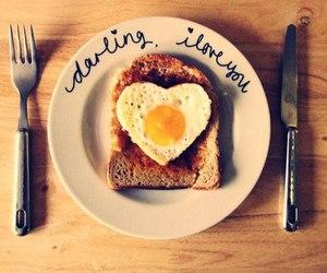 breakfast, egg, and toast image