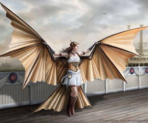 angel, anne stokes, and steampunk image