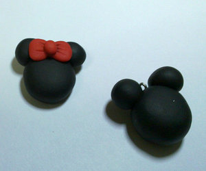clay, earrings, and fimo image