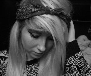 autumn, bandana, and black image