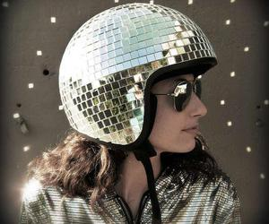 brunette, cool, and disco image