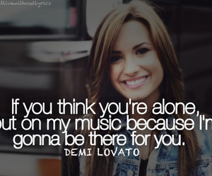 demi and text image