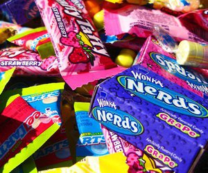 candy, nerds, and strawberry image