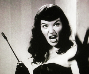 amazing, black and white, and Bettie Page image