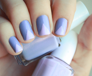 beauty, lavender, and essie image