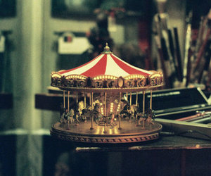 carousel, horse, and photography image