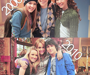 miley cyrus, emily osment, and awee image
