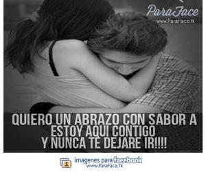 abrazo, amor, and facebook image