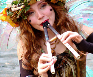fairy, fantasy, and flute image