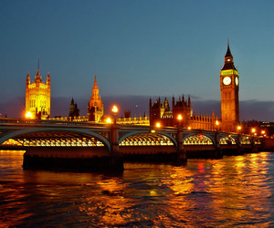 london, Londres, and night image