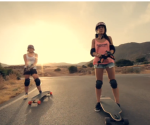 girls, longboard, and summer image