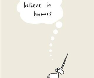 unicorn, humans, and believe image