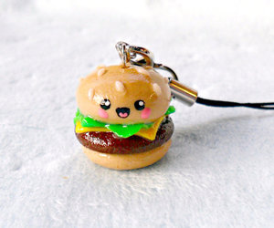 charm, hamburger, and kawaii.cheeseburger image
