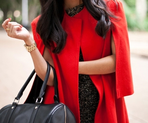 beautiful, red, and clothes image