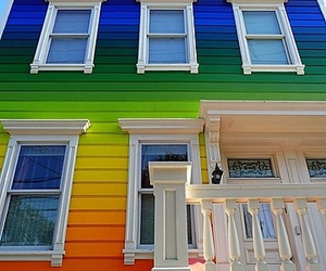 colours, house, and rainbow image