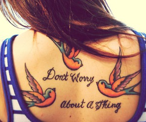 birds, girl, and quote image