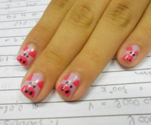 pigs, pink, and hand image